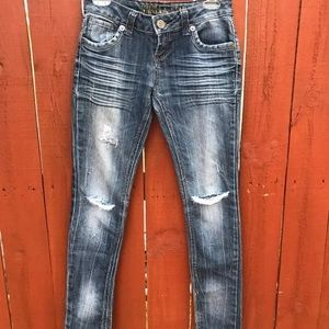 Vanilla star distressed skinny jean